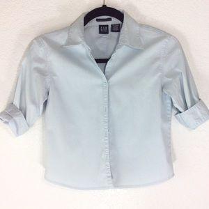 Gap button down shirt sz Medium 3/4 sleeve